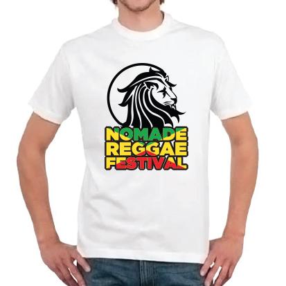 t-shirt nomad reggae-blanc